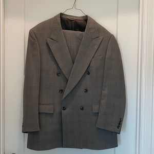 Men's vintage wool double breasted suit